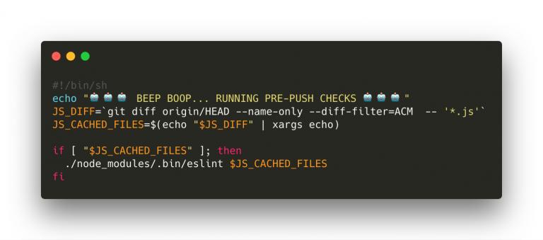 ESlint coding example