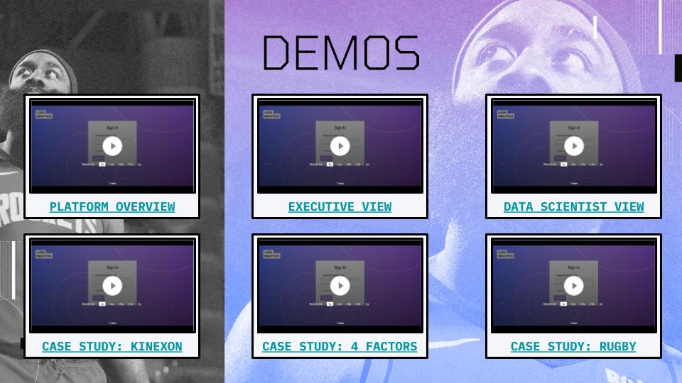 Ludis Analytics pitch deck video demos