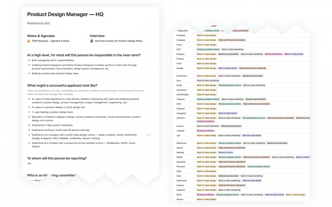 Design Manager project document