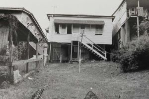 The back of the McCulkin house, a classic Queenslander house.