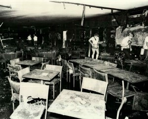 Inside the Whiskey following the firebombing, which happened in March 8, 1973