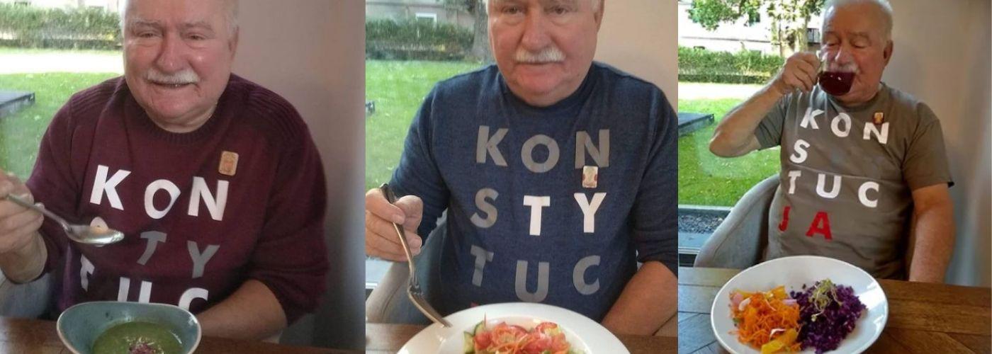 Lech Wałęsa korzysta z diety pudełkowej