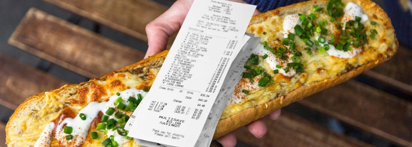 Ceny jedzenia nad morzem