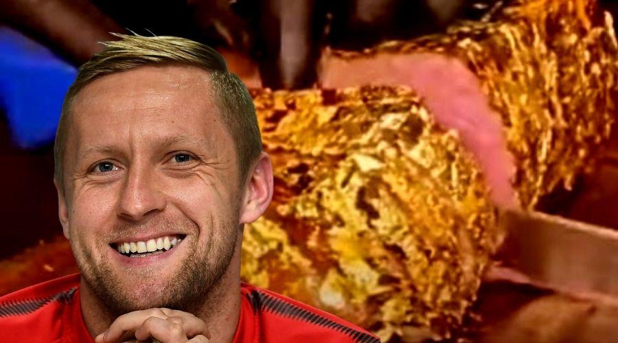 Kamil Glik i złoty stek