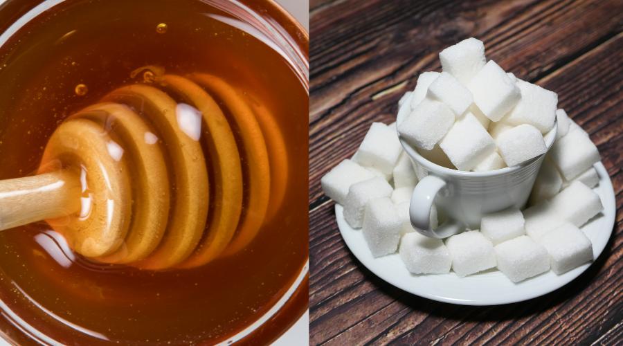 Miód i cukier - co jest lepsze?