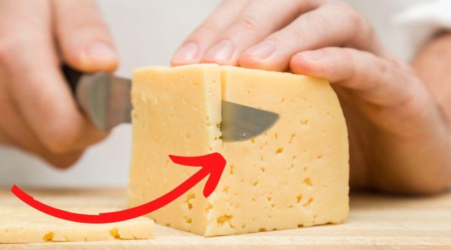 Ser należy kroić w odpowiedni sposób