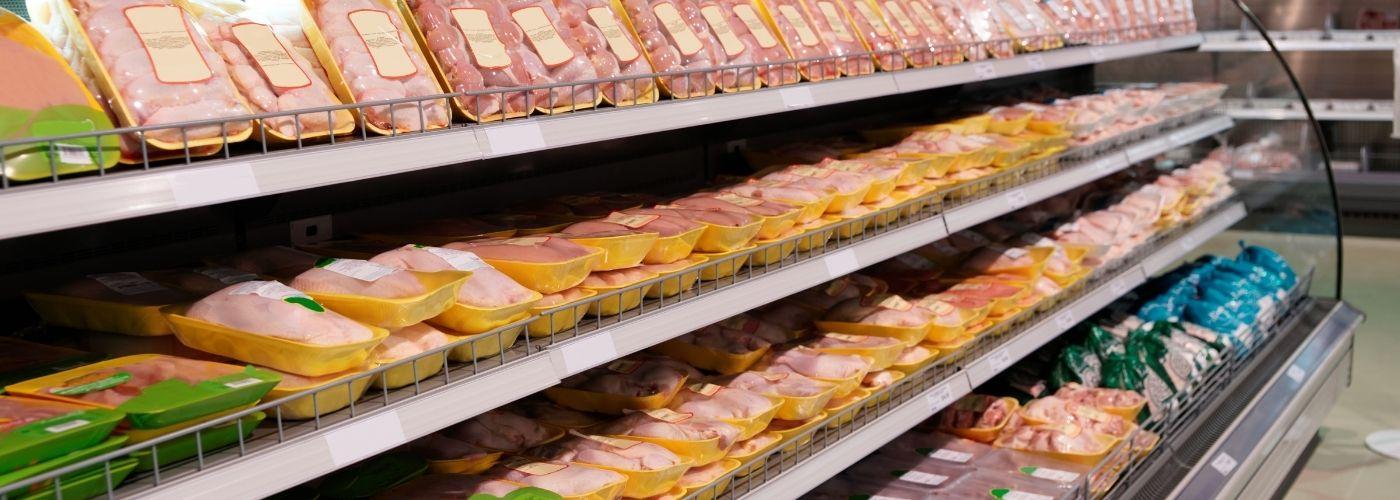 Mięso w sklepie