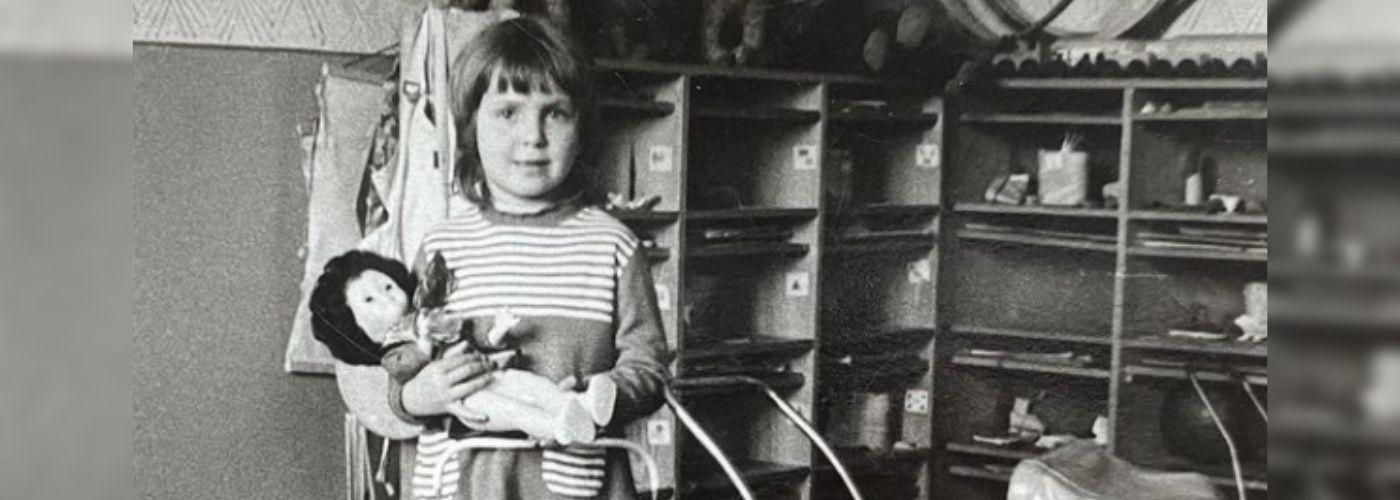 Ewa Wachowicz w dzieciństwie