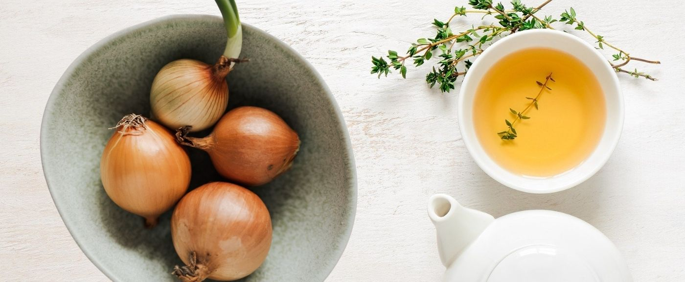 Cebula jako dodatek do herbaty