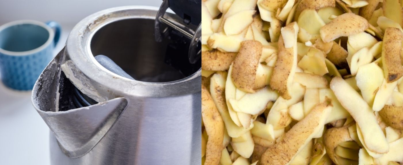 Obierki po ziemniakach i czajnik