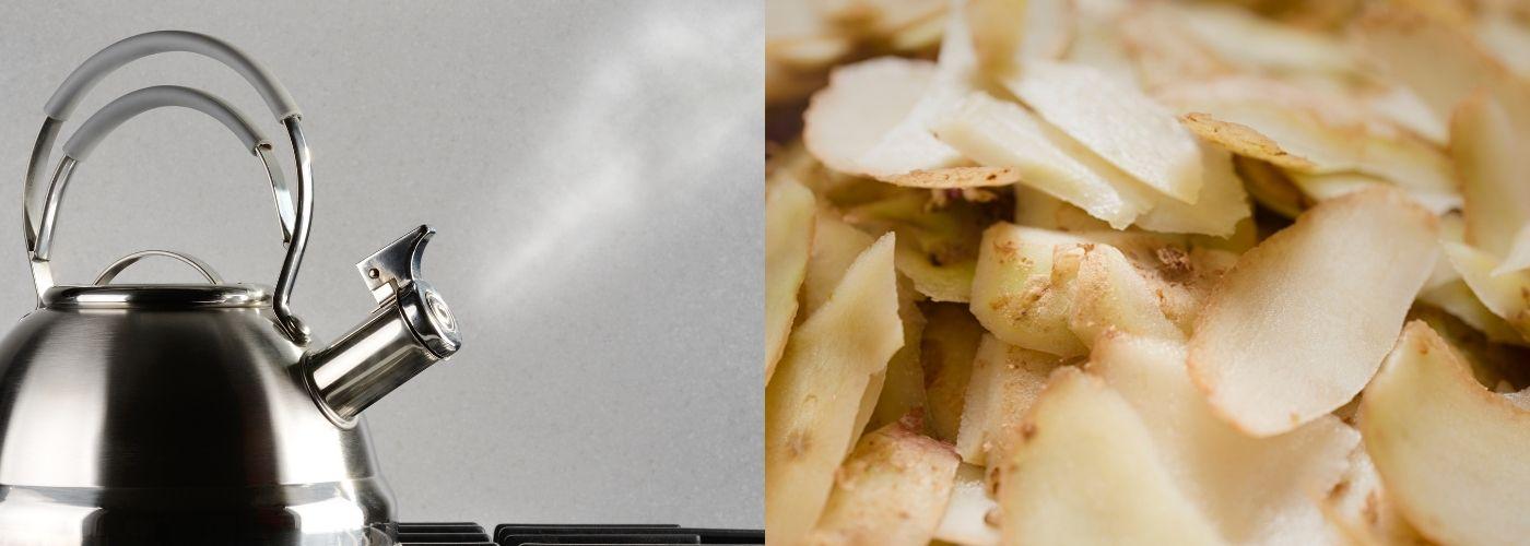 Obierki z ziemniaków sprawdzą się podczas czyszczenia czajnika