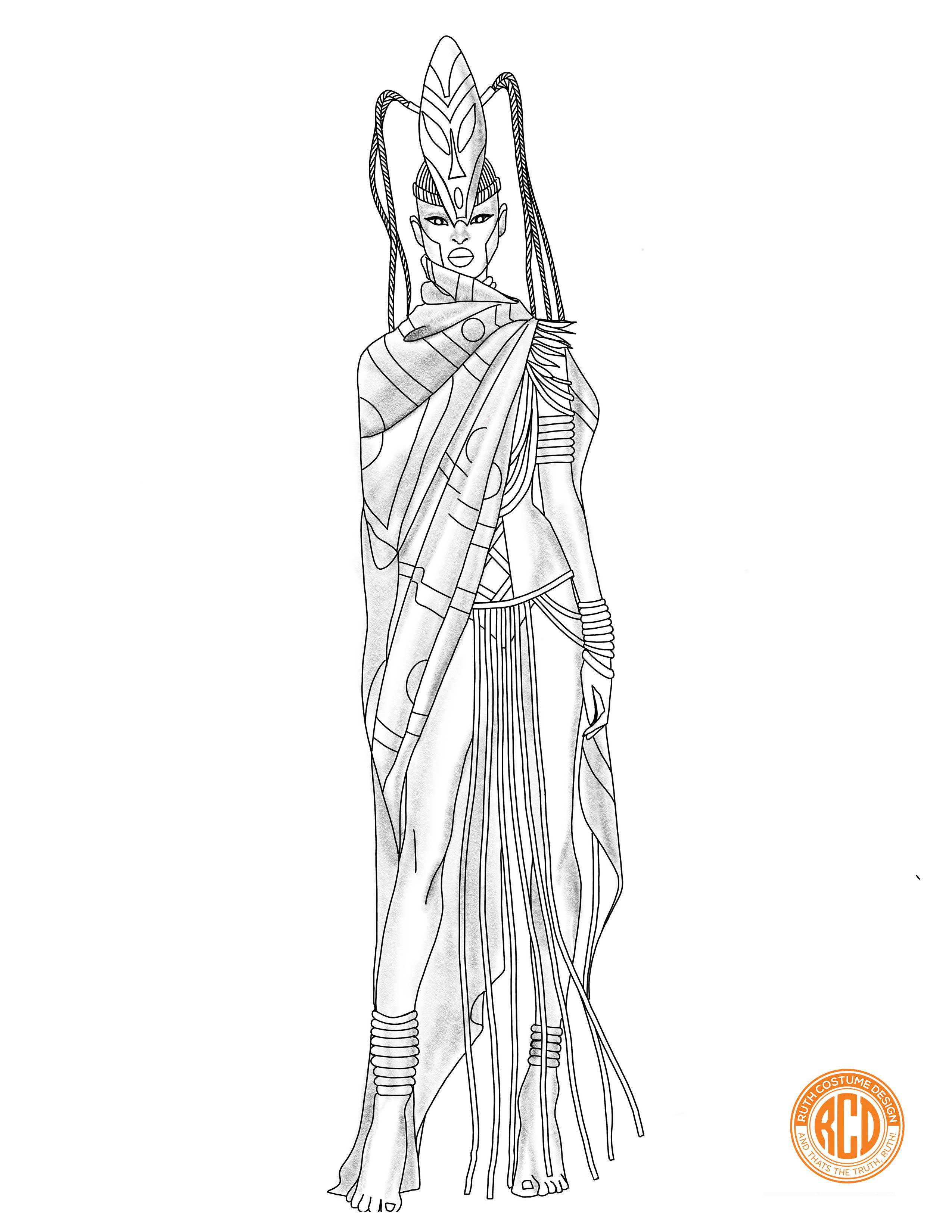russian traditional costume for girls coloring page - Google ... | 3300x2550