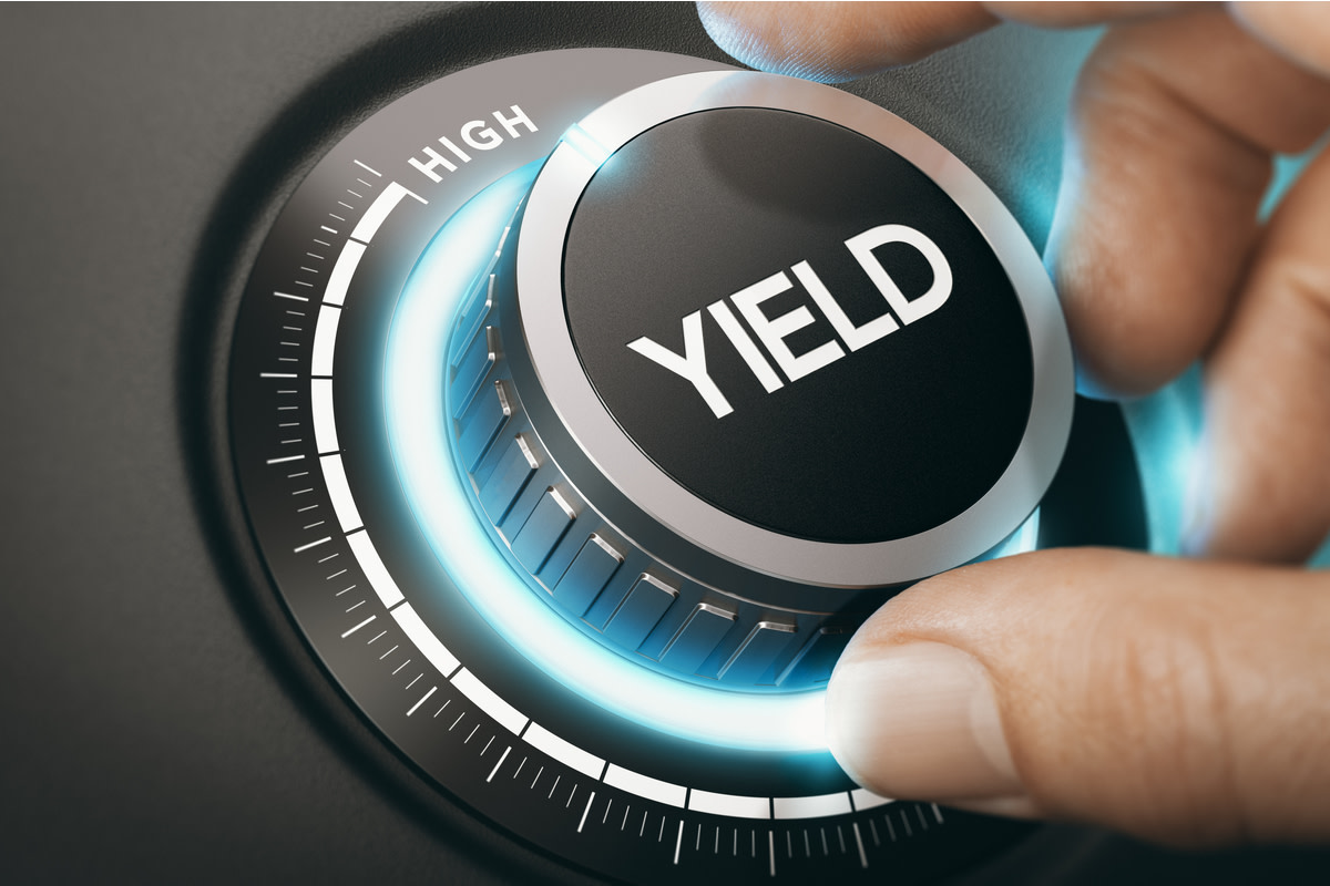 turning a knob to select high yield investment