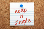 The phrase Keep It Simple in red ink