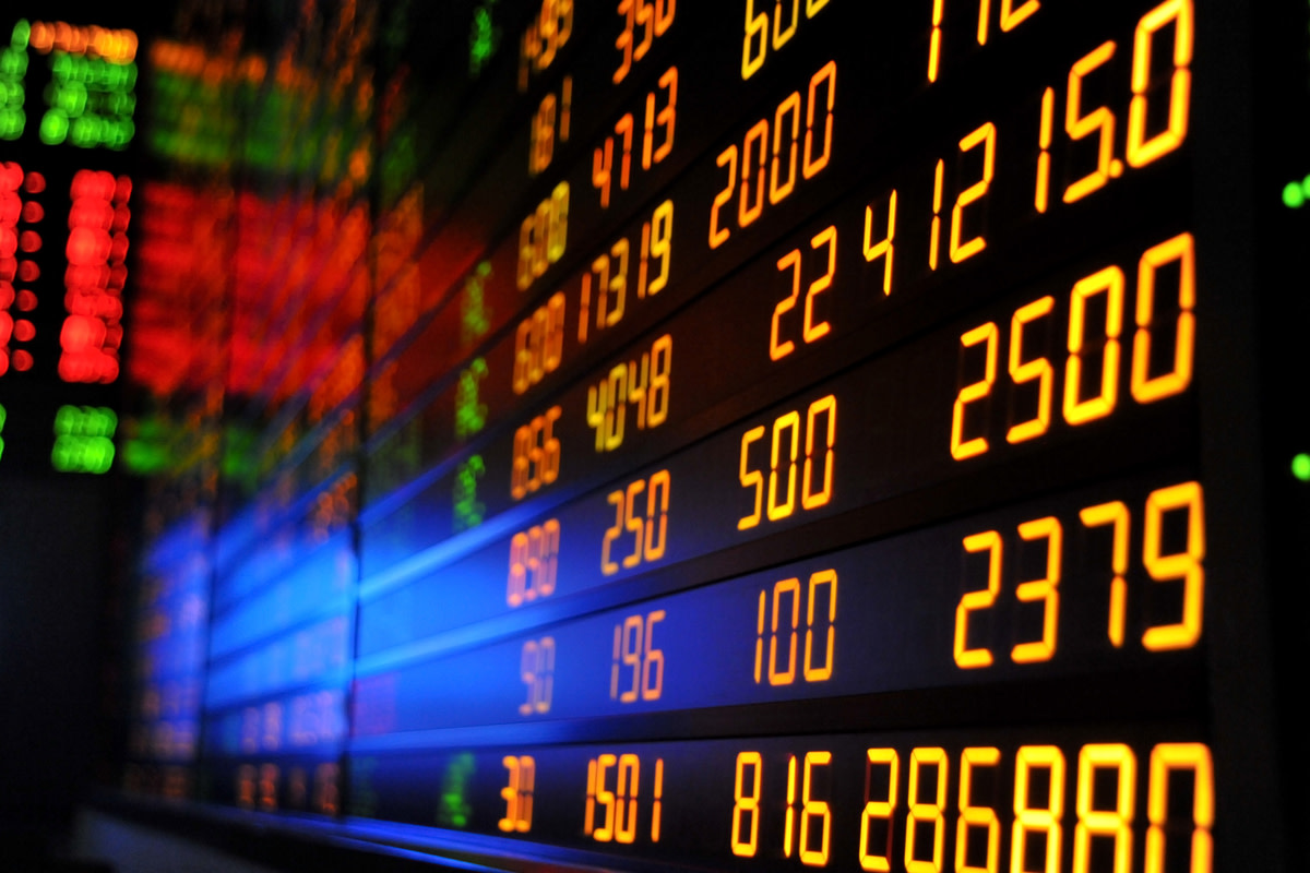 Display of Stock market