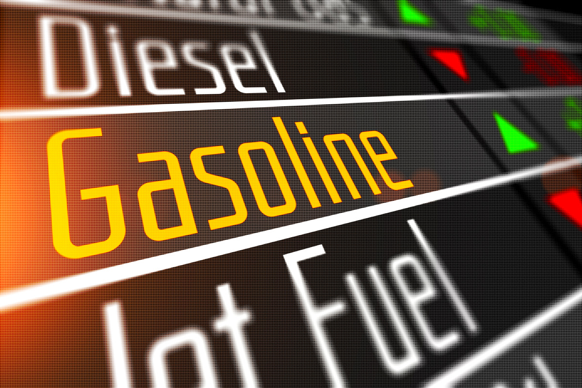 Prices for gasoline and various commodities