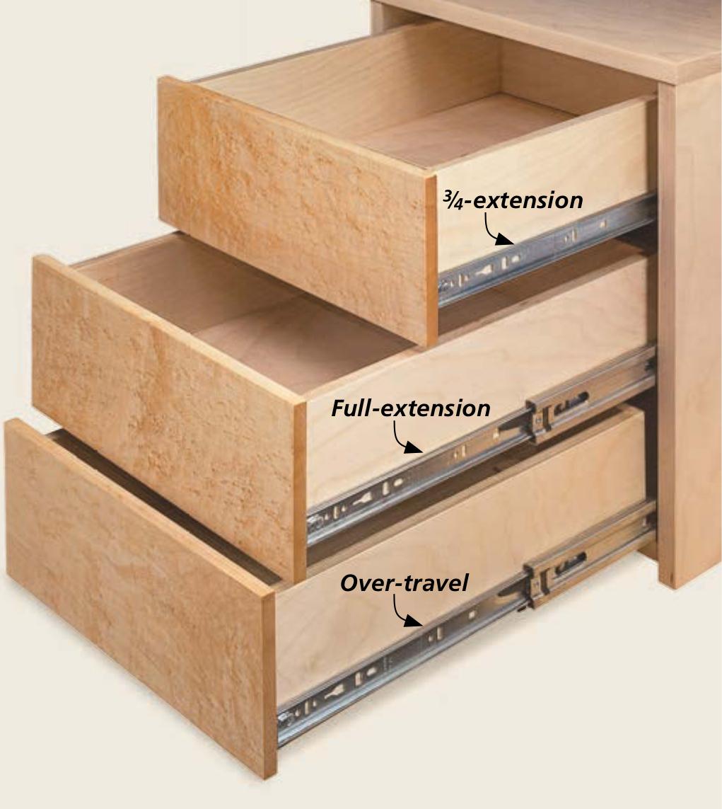 All About: Metal, Ball-Bearing Drawer Slides | Woodsmith