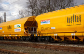 Train carrying NACCO products