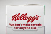 Kellogs logo and tag line.