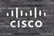 Cisco Logo on a Brick Wall