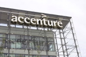 Accenture Logo on Building