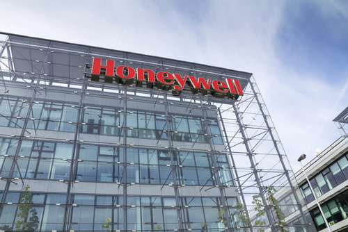 Honeywell Logo on Building