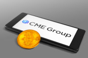 CME group on a smartphone screen