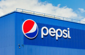 PepsiCo Inc. Logo on a building.