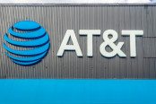 AT&T logo on a storefront