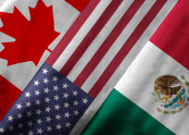 Canadian, Mexican and America Flags
