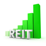 Real Estate Investment Trust green graph increasing