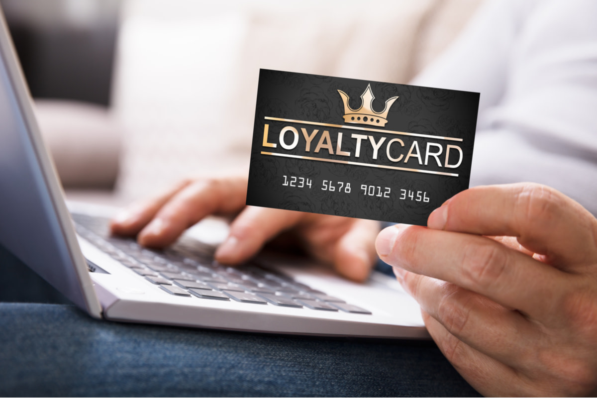 Close-up Of A Hand With Loyalty Card