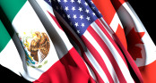 US Mexico Canada Flags