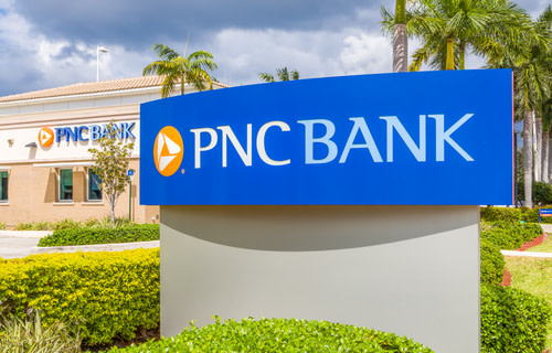 PNC Bank Logo on Sign