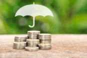 Insurance Umbrella on Coins