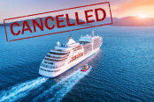 Cruise travel ban concept