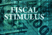 "The words ""fiscal stimulus"" over graphs"