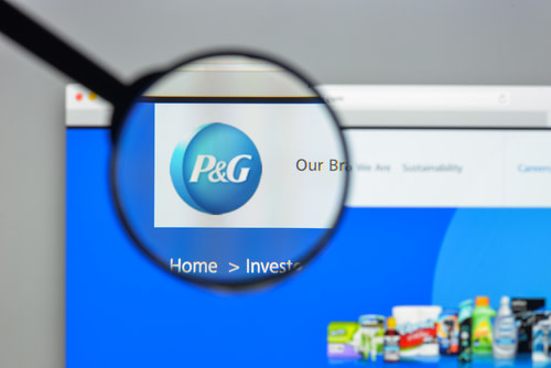 P&G logo and website.