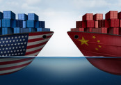 US and China Trade Ships - Trade War