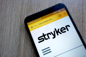 Stryker Corporation Website on a Smartphone