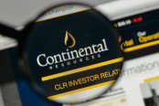 Continental Resources logo on the website homepage