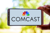 Comcast logo on a smartphone