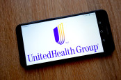 UnitedHealth Group Logo on Smartphone