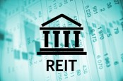 REITS, bank symbol, financial document.