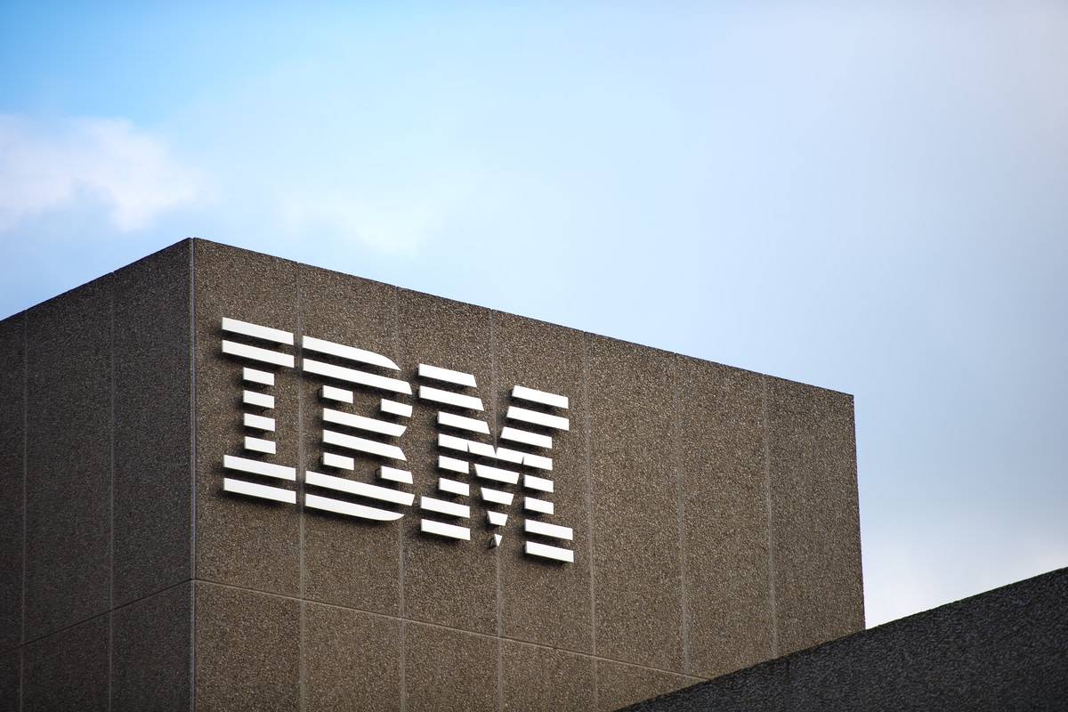 IBM logo on the IBM building