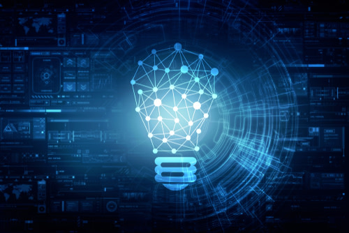 Digital Connections Represented by Lightbulb
