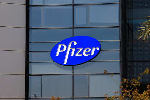 Pfizer Logo on building