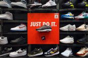 Nike Shoes in Retail Store