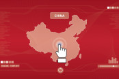 Red map of china.