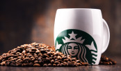 Starbucks Cup and Coffee Beans